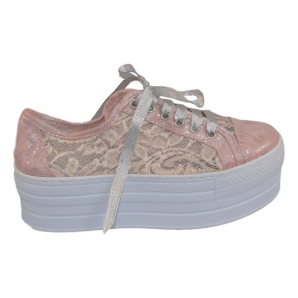 Bruidssneakers lace pink