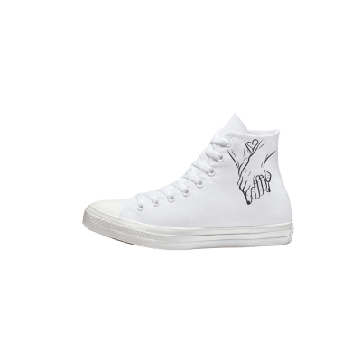 Trouw Converse High Top Mono Wit bruidssneakers