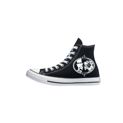 Trouw Converse High Top Zwart Wit Bruidssneakers