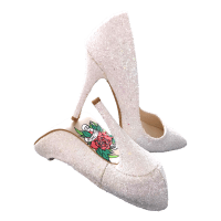Glitter-Bruidsstiletto's-Stiletto