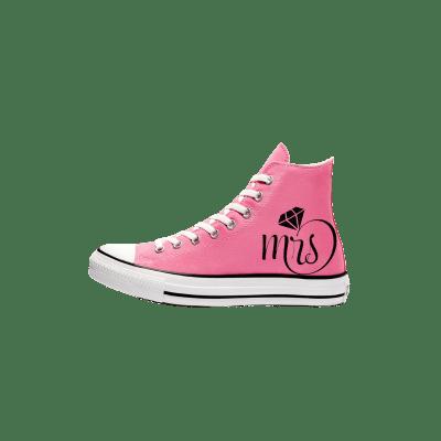 Trouw Converse High Top Roze Bruidssneakers