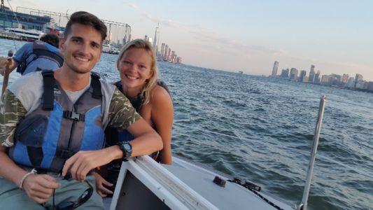Niet echt toeristisch, zeilen op de Hudson :)