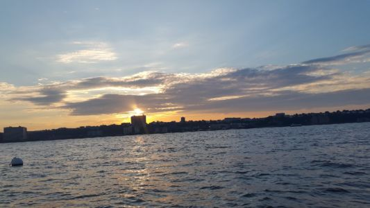 Sunset at the Hudson