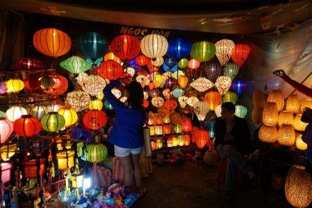 Lanterns by night