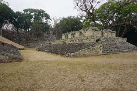 Balspeelveld Maya ruinas Copan