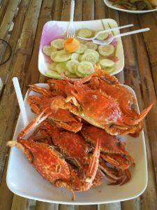 Eten bij de islandtoer op Coron