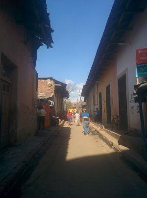 Local street Granada Nicaragua