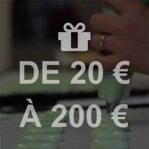 Carte Cadeau de 20 à 200 €