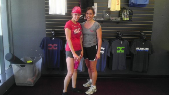 Cindy and Robin after the free WOD