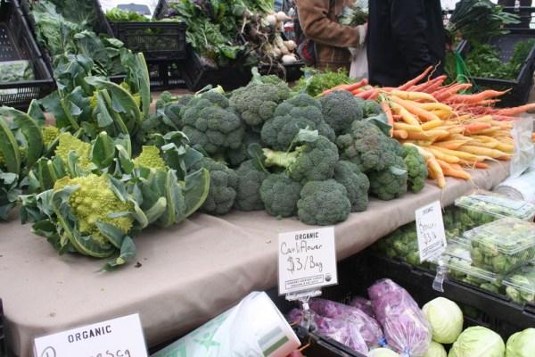 Variety of vegetables at famer's market