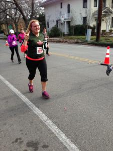 Sally running in 3M