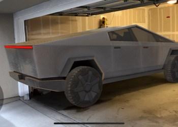 Tesla Cybertruck garage fitting