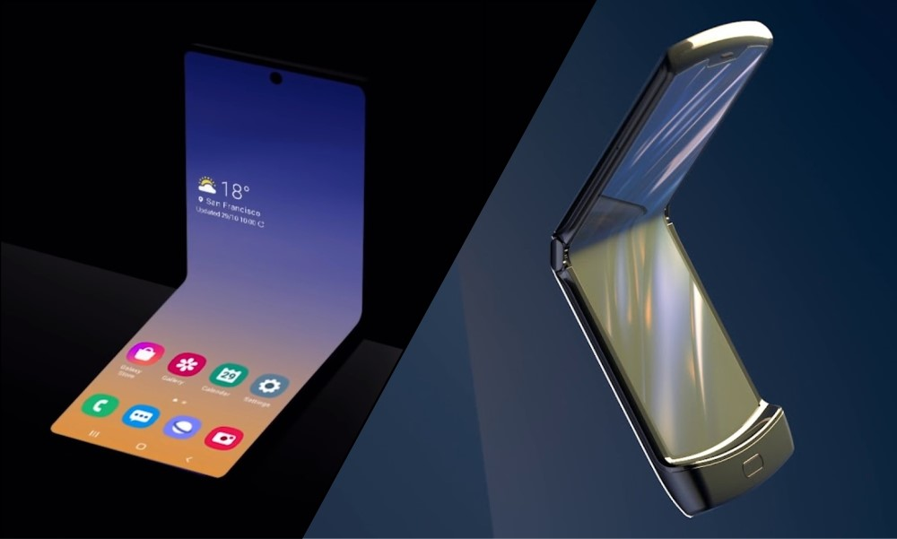Galaxy Z Flip vs Moto RAZR flip