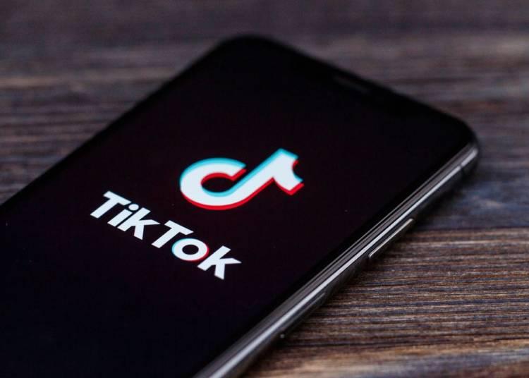 TikTok app on smartphone