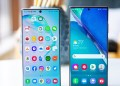 Samsung Galaxy Note 20 Ultra beside Note 10