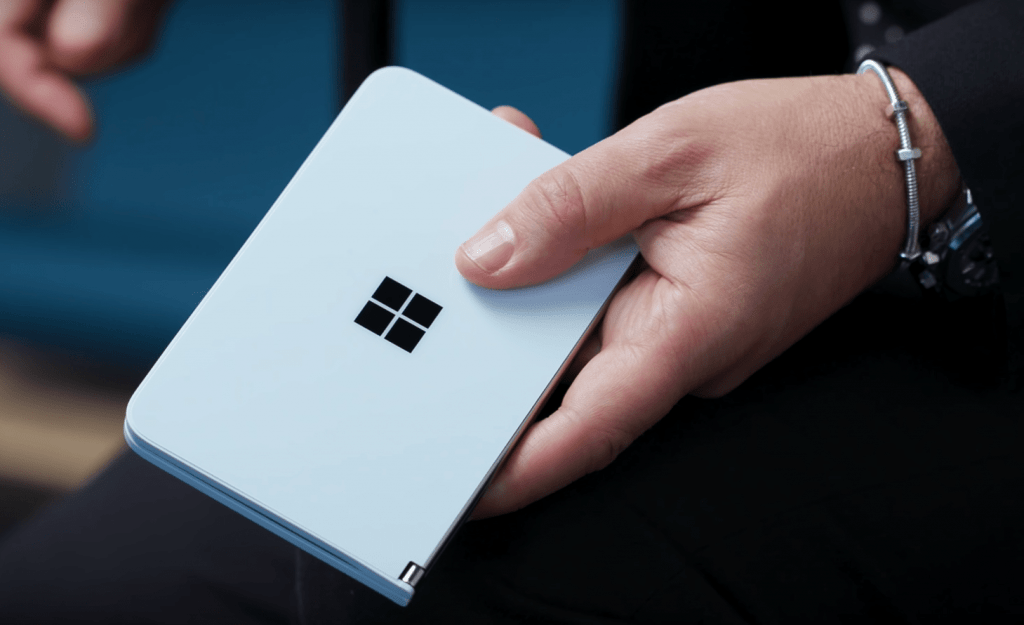 Sleek and elegant design of the Microsoft Surface Duo
