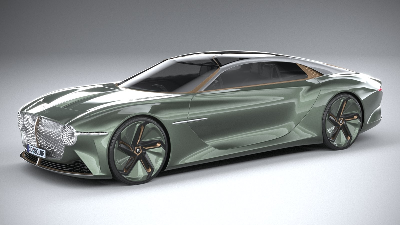 Bentley EXP 100 GT 3D render