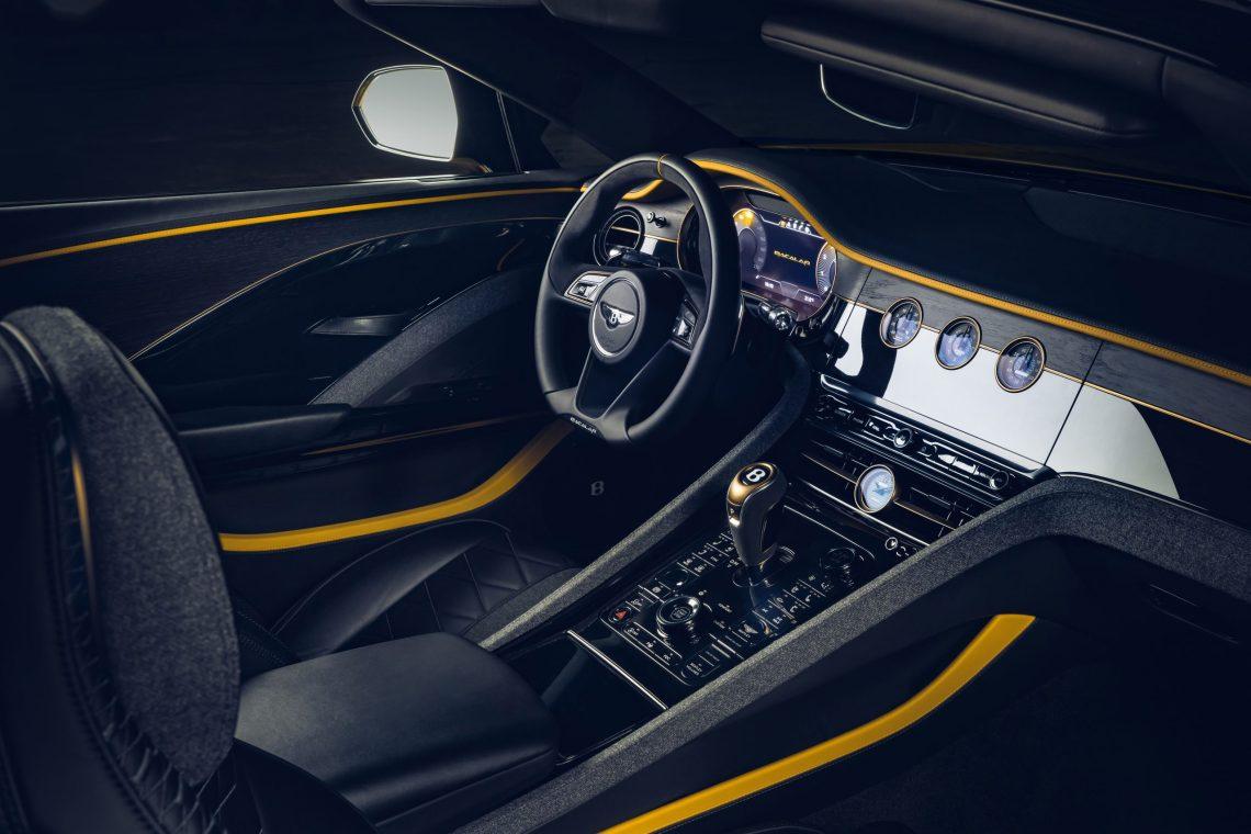 Bentley Mulliner Bacalar dashboard picture