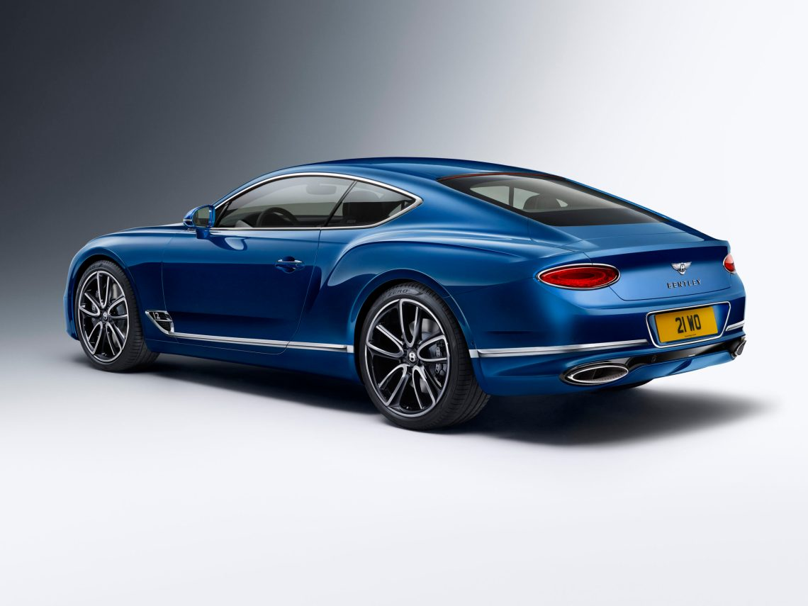 The Bentley Continental GT from the back