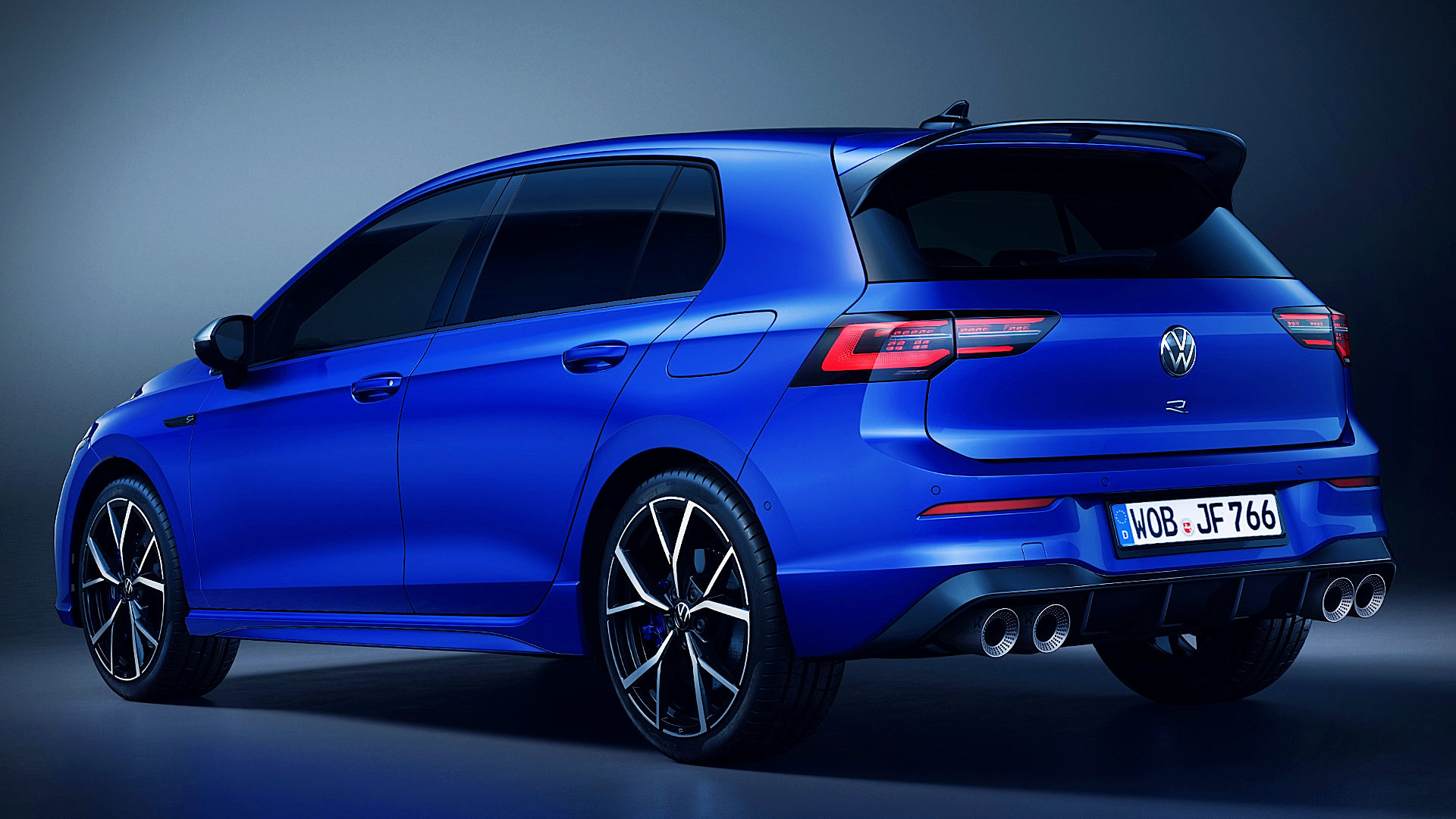 The back image of the Volkswagen Golf R