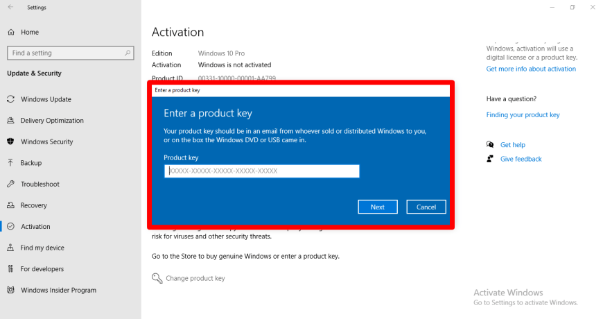 How to activate your Windows 10 PC