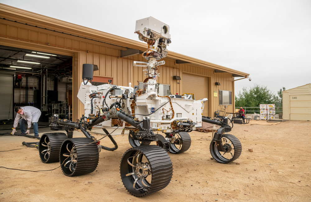 Testing the NASA Perseverance rover