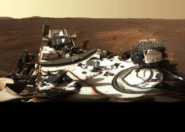 mars rover panoramic view