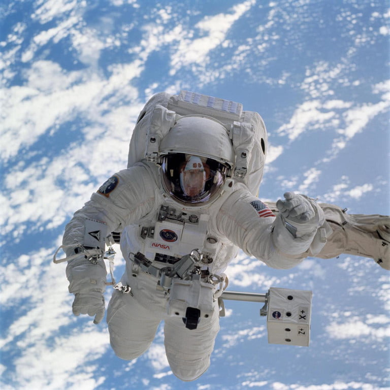 NASA Astronaut on spacewalk