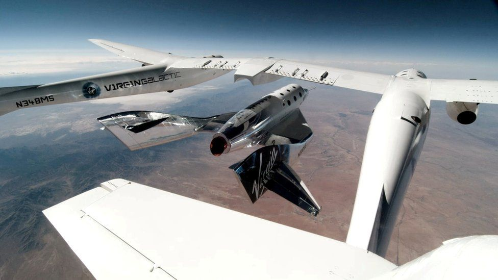 Separation of the VSS Unity spacecraft