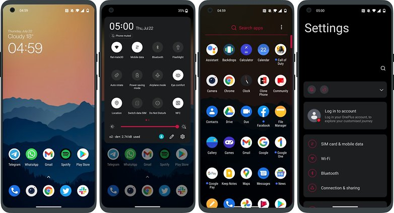 OnePlus Nord 2 5G running ColorOS vs OxygenOS