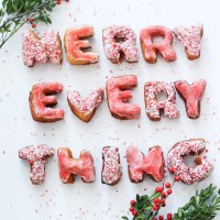 Merry Everything: How to Make Alphabet Doughnuts At Home