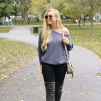 Over the Knee Boots + a Fall Outfit at the Boston Public Garden