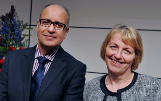 Lead researchers Professor Rakesh Kanda and Professor Susan Jobling