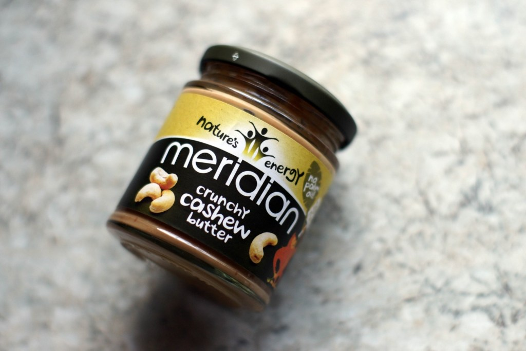 Jar of Meridian Crunchy Cashew Butter