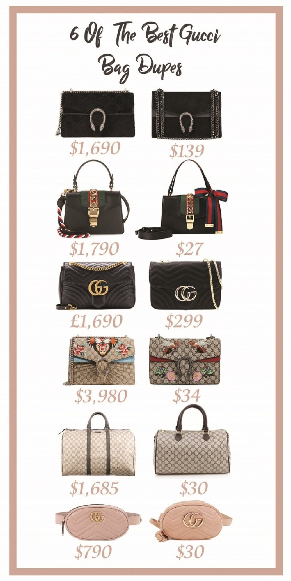 6 Of The Best Gucci Bag Dupes