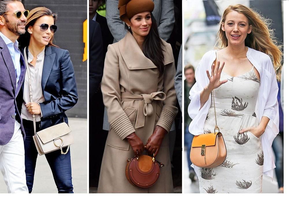 Eva Longoria, Meghan Markle and Blake Lively wearing Chloe bags