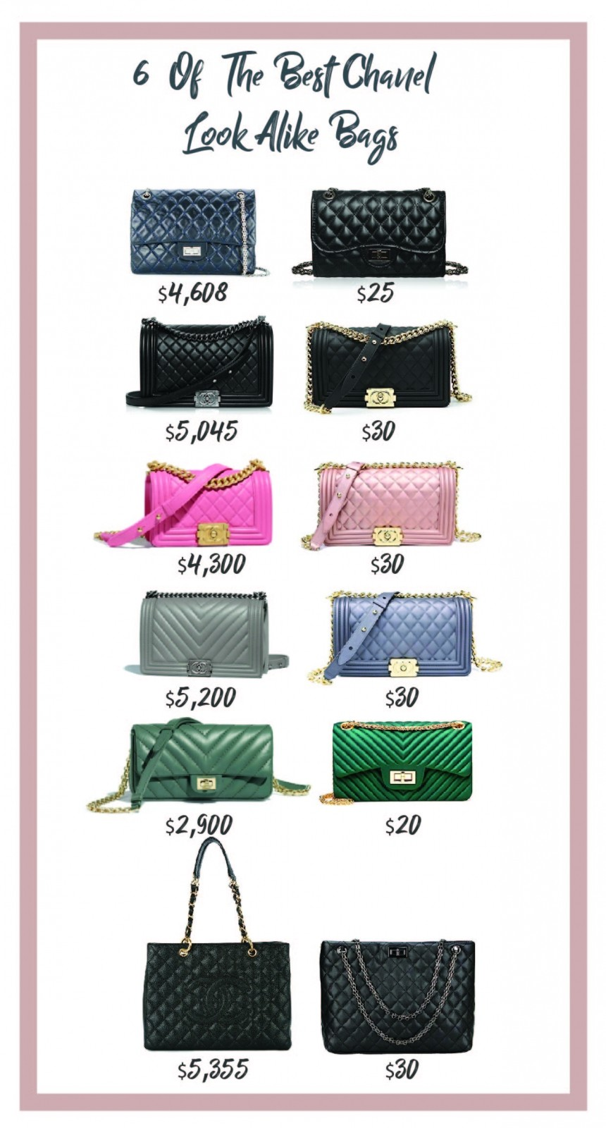 6 Of The Best Chanel Look Alike Bags