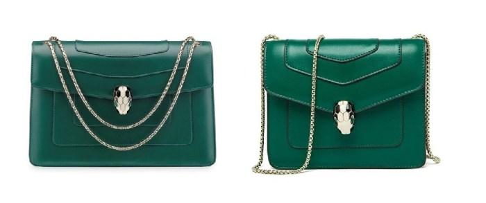 Bulgari Green Serpenti Bag & Bulgari Serpenti Bags Dupes