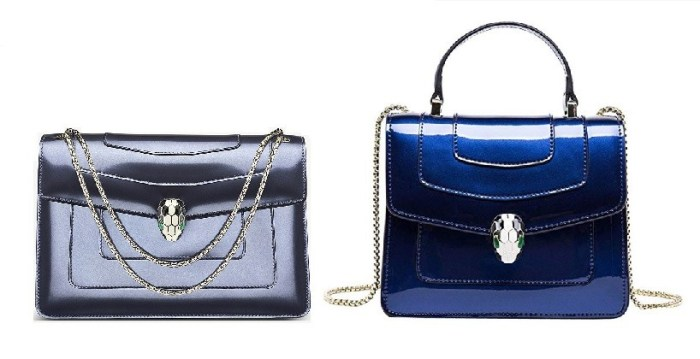 Bulgari Serpenti Blue Metallic Bag & Bulgari Serpenti Bags Dupes