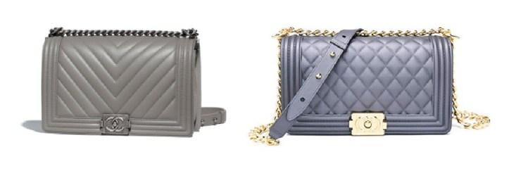 Chanel Grey Boy Bag and Chanel Look Alike Bags