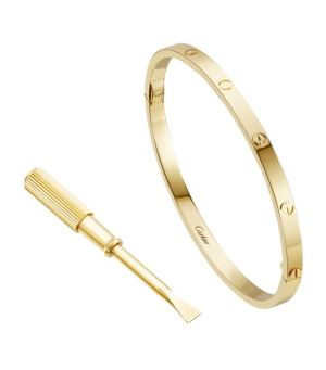 small-yellow-gold-love-bracelet - Cartier Dupes
