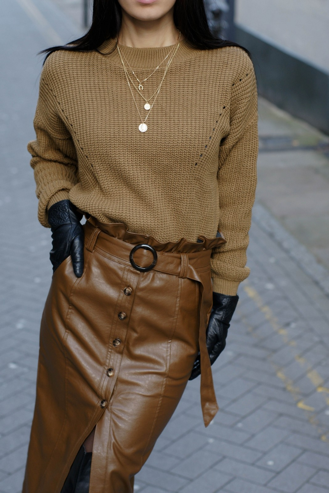 How To Style A Leather Pencil Skirt