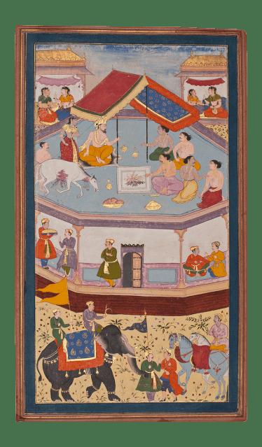 The Horse-sacrifice By Mughal artist for a non-royal patron c. 1605