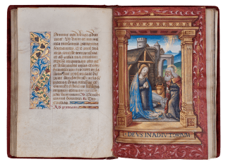 GUILLAUME LE ROY THE YOUNGER THE HOURS OF JEAN-BAPTISTE DESSAIGNES. Book of Hours, Use of Rome, in Latin Illuminated manuscript on parchment France, Lyons c. 1495–1510