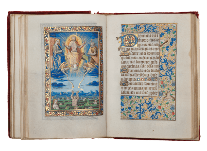 The Monypenny Hours (Use of Paris) In Latin and French, illuminated manuscript on parchment France, Paris, c.1490. by the Master of the Chronique scandaleuse (active in Paris, c. 1493-c. 1510)