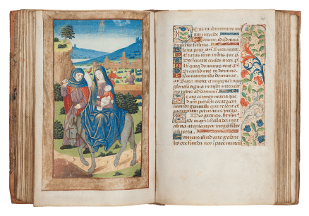THE HOURS OF PEDRO ANTÓNIO DE NORONHA DE ALBUQUERQUE, MARQUES D'ANGEJA Book of Hours, Use of Rouen, in Latin and French Illuminated manuscript on parchment France, Rouen c. 1500