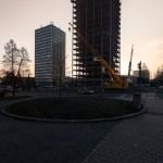 Přestavba jedné budovy v roce 2015