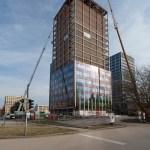 Přestavba jedné budovy v roce 2016