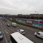 Těleso nádraží z ulice Zvonařka