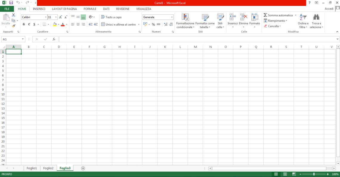 Introduzione a Excel 2013